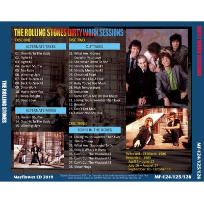 画像2: THE ROLLING STONES / DIRTY WORK SESSIONS 【3CD】
